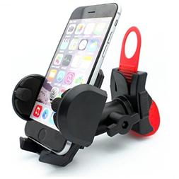 Rotating Bicycle Mount Handlebar Phone Holder with Strap for