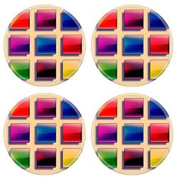 MSD Natural Rubber Round Coasters IMAGE 19866914 Set of web