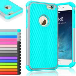Rugged Rubber Hard Shockproof Cover Case for iPhone 8 7 6 6s