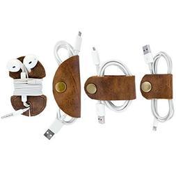 Rustic Cord Keeper  4-Pack Handmade by Hide & Drink :: Bourb