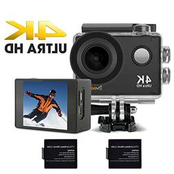 4K Underwater Action Camera,2'' HD Display,10m Built-in WiFi