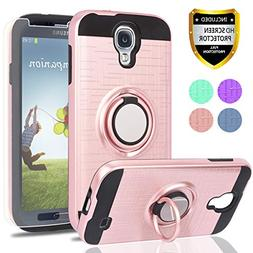 S4 Case,Galaxy S4 Case with HD Phone Screen Protector,Ymhxcy