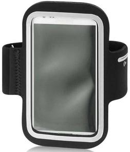 Samsung Exhibit II 4G Neoprene Sports Arm Band Silver With M