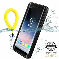For Samsung Galaxy Note 8 Waterproof Case Cover with Built-i