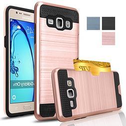 Samsung Galaxy On5 Case, AnoKe  Hard Silicone Rubber Hybrid