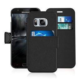 Samsung Galaxy S 7/S7 Leather Wallet Case with Credit Cards