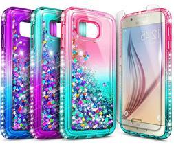 For Samsung Galaxy S6 S7 Edge Active Case Liquid Glitter Cov