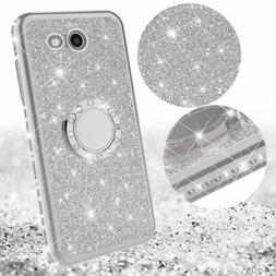 For Samsung Galaxy S7 8 9 Bling Luxury Glitter Diamond Stand