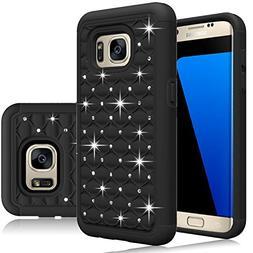 Samsung Galaxy S7 Case, Hybrid Dual Layer Protective Case Co