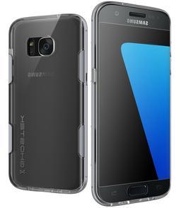 For Galaxy S7 Edge Case | Ghostek CLOAK Clear Hybrid Shockpr