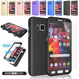 For Samsung Galaxy S7 / S7 Edge 360° Full Body Hard Case +S
