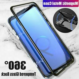 For Samsung Galaxy S9 S8 S7 Plus Magnetic Adsorption Tempere