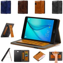 For Samsung Galaxy Tab A Smart Leather Flip Case Wallet Card