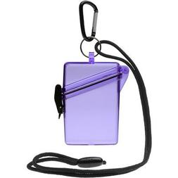 WITZ See it Safe Waterproof ID/Badge Holder Case, Purple