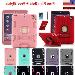 Heavy Duty Case Stand Cover for iPad Mini 1/2/3/4/5/Air, iPa