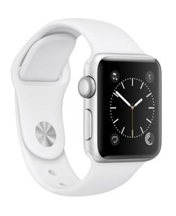 Apple Watch Series 2 38mm Silver-Tone Aluminum Case with Whi