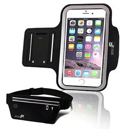 Revere Sport Slim Armband Phone Holder with Case for all Sma