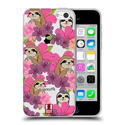 Head Case Designs Sloth Floral & Animal Pattern Soft Gel Cas