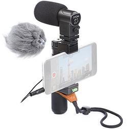 Movo Smartphone Video Rig with Stereo Microphone, Grip Handl