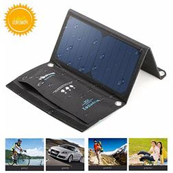 BlitzWolf 15W Solar Charger Portable Dual USB Port for iPhon