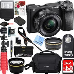 Sony ILCE-6300 a6300 4K Mirrorless Camera w/ 16-50mm Power Z