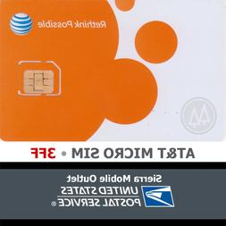 AT&T MICRO SIM CARD NEW Go Phone or