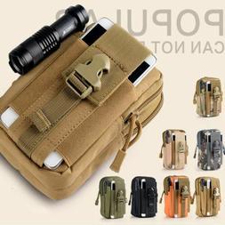 Tactical Holster Military Waist Belt Molle Bag Wallet Cell P