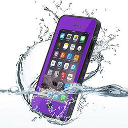 HESGI Thin IP68 Waterproof Case for Apple iPhone 7 - Purple