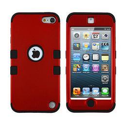 MyBat Titanium Red/Black TUFF Hybrid Protector Cover for iPo