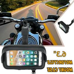 Touch Screen Waterproof Motorcycle Phone Holder Rear Mirror