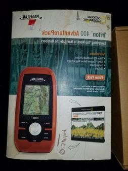 Magellan Triton 400 Adventure Pack GPS with Box, Cable, Case