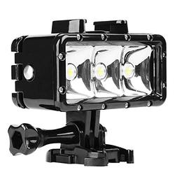 D&F Underwater Flash Diving Light 40M Waterproof with 3 LED
