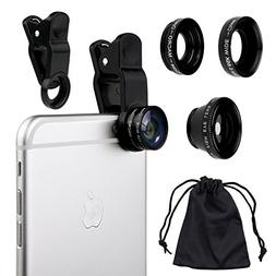 Handysmart Universal 3 in 1 Camera Lens Kit for Smart phones