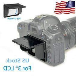 Universal Sun Shield Shade Camera PopUP Hood Screen Protecto