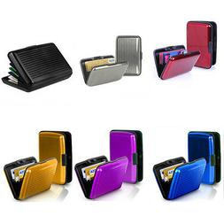 US Aluminum Waterproof Wallet Clip Credit Card Holder Case B