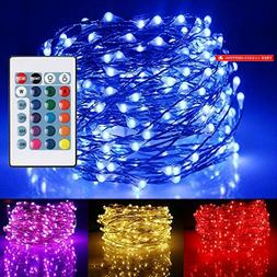 Ustellar 33ft RGB 100 LED Starry String Lights, Outdoor Wate