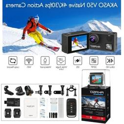 AKASO V50 Native 4K/30fps 20MP WiFi Action Camera with EIS,