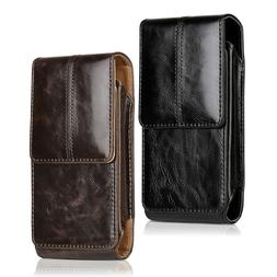 Vertical Leather Belt Clip Case Pouch Cover Holster for iPho