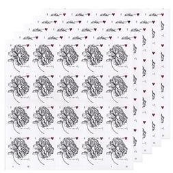 Vintage Rose Sheet of 20 USPS Forever Stamps Wedding, Annive
