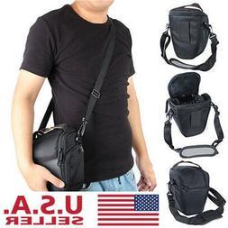 Waterproof Black Camera Case Shoulder Bag Backpack for Canon
