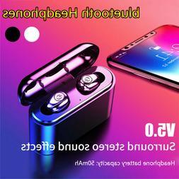 Waterproof TWS Wireless Headset Bluetooth 5.0 Earbuds Headph