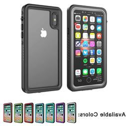 For Apple iphone XS Waterproof Case Cover With built-in scre