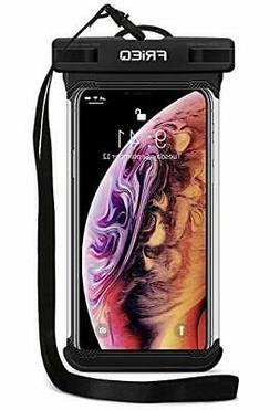 """Waterproof Case Dry Bag Pouch for Smartphones up to 6.5"""" Bla"""