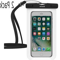 Waterproof Case,2 Pack iBarbe Universal Cell Phone Dry Bag P