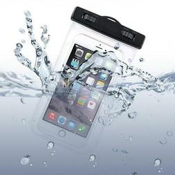 WATERPROOF CELL PHONE CASE UNDERWATER BAG COVER POUCH TRANSP
