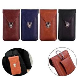 Waterproof Cell Phone Pouch Case PU Leather Clip Waist Bag H
