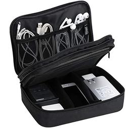 Waterproof 2 Layer Electronic Accessories Organizer Case, Tr
