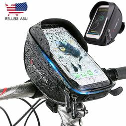Waterproof Handlebar Bag Mountain Bicycle Front Bag Phone Ca