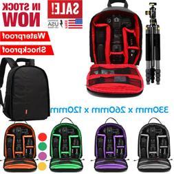 Waterproof  DSLR  Shockproof Camera Backpack Bag Case For Ca