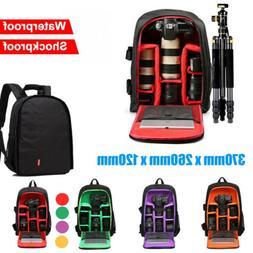 Waterproof Large DSLR  Shockproof Camera Backpack Bag Case F